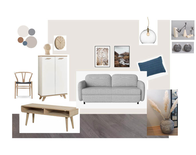 Home and style inspiration living room mood board scandinavian style light colours bolia sofa Interiorarkitekt Jolanta Ratkeiciene Stavanger Norway