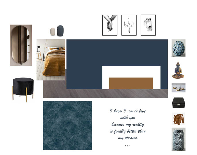 Home and style mood board bedroom inspiration Interiorarkitekt Jolanta Ratkeiciene Stavanger Norway