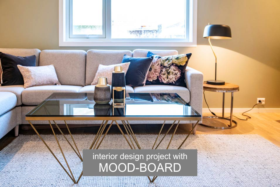 Interior project with MOOD-BOARD living room design Home and Style inspiration